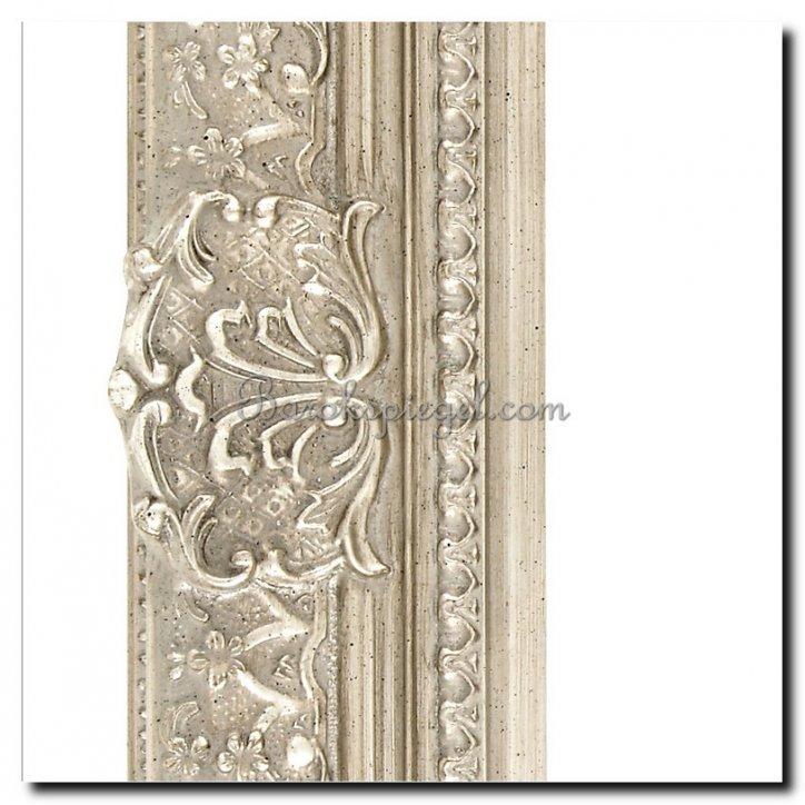 William Koninklijke Spiegel Met Barok Zilveren Lijst