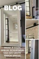 Schuifdeurkast Met Grote Spiegel.Spiegel Schuifdeur Zelf Maken Met Grote Barok Spiegel