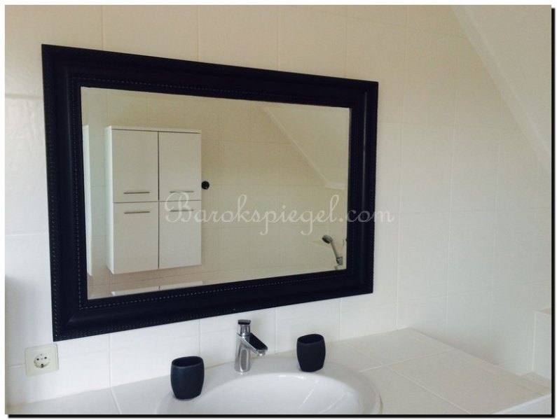 Elegante spiegel leonardo zwart barokspiegel