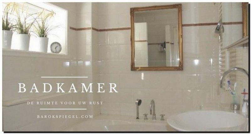 spiegel in badkamer - barokspiegel