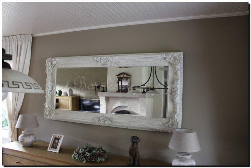 Barok Spiegel Wit : Grote witte brocante spiegel gitano barokspiegel