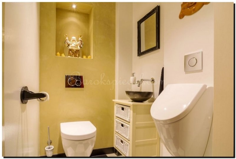 Spiegel Zwarte Lijst : Spiegel voor toiletruimte barokspiegel