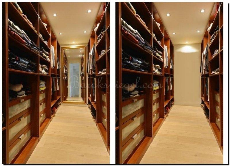 Hoe vergroot je een ruimte met een spiegel - Grote kleedkamer ...