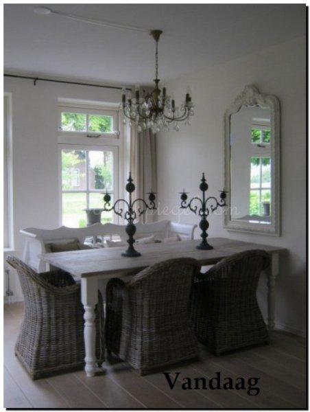 Decoratie tips voor een spiegel bij de eettafel met veel sfeer foto 39 s - Idee van de eetkamer ...