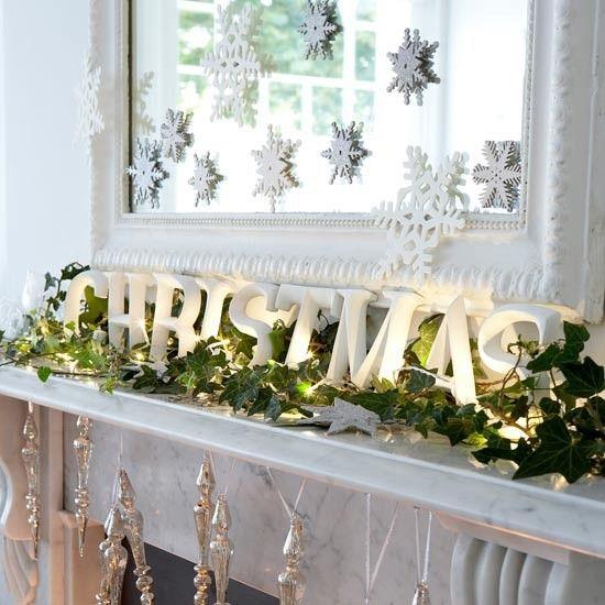 Spiegel versieren-decoreren met kerst - barokspiegel