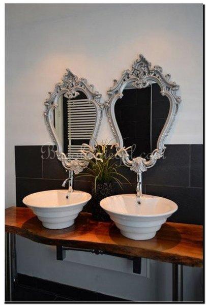 Spiegel in badkamer barokspiegel for Grote zilveren spiegel