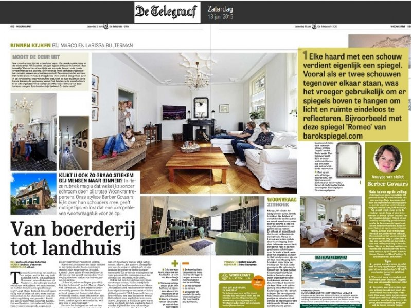 Boogspiegel in Telegraaf