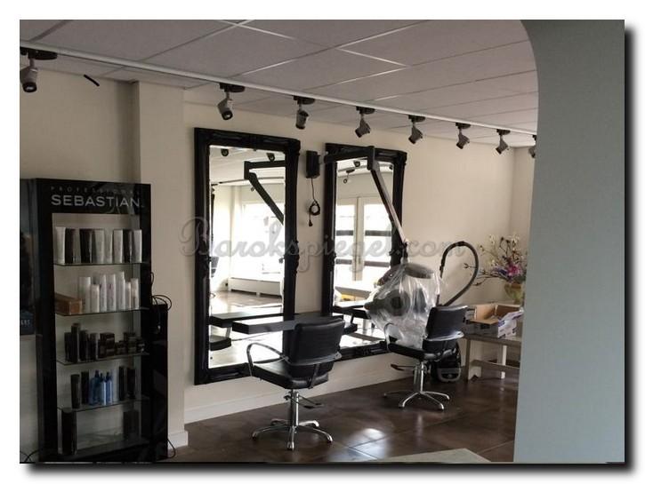Top groot zwart kapsalon hairstudio with barok spiegel for Grote spiegels te koop
