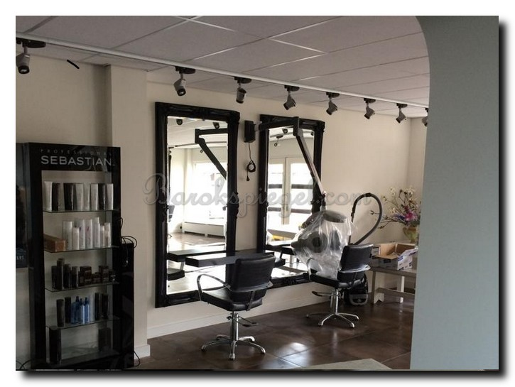Top groot zwart kapsalon hairstudio with barok spiegel for Goedkope barok spiegel