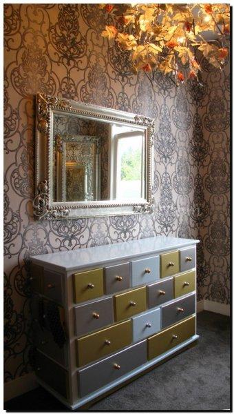 Chique spiegel raul zilver barokspiegel for Spiegel boven dressoir