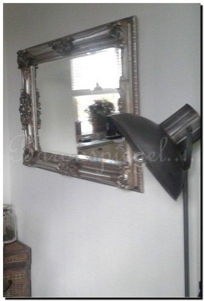 Barok spiegel donatello zilver barokspiegel for Barok spiegel groot
