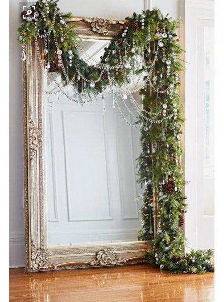 Spiegel versieren decoreren met kerst barokspiegel for Grote barok spiegel