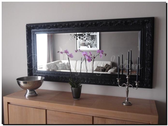 barok spiegel antonio zwart boven dressoir formaat 94x194 barok ...