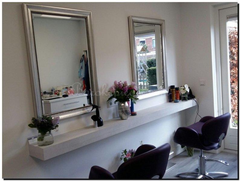Spiegels voor uw kapsalon hairstudio of beautysalon for Grote zilveren spiegel