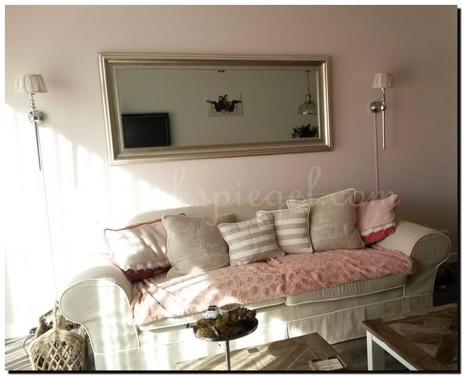 Moderne woonkamer spiegel moderne woonkamer spiegel hooglans wit met zilver - Designer woonkamer spiegel ...