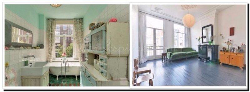 Spiegels in een Vintage retro interieur - barokspiegel.com