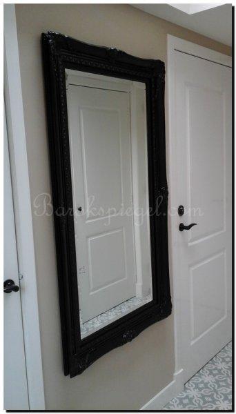 Franse stijl spiegel rico zwart barokspiegel for Spiegel zwarte lijst