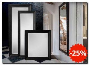 Zwarte Brocante Spiegel.Zwarte Barok Spiegels Met Lijst In Mat Zwart Of Glans Zwart