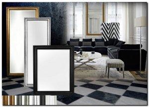 Moderne spiegels met een strakke of mooi gevormde lijst barokspiegel